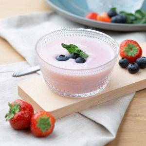 Dessert Aardbei Blauwe Bes
