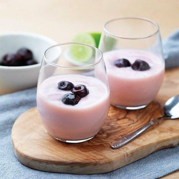Dessert Yoghurt Kers