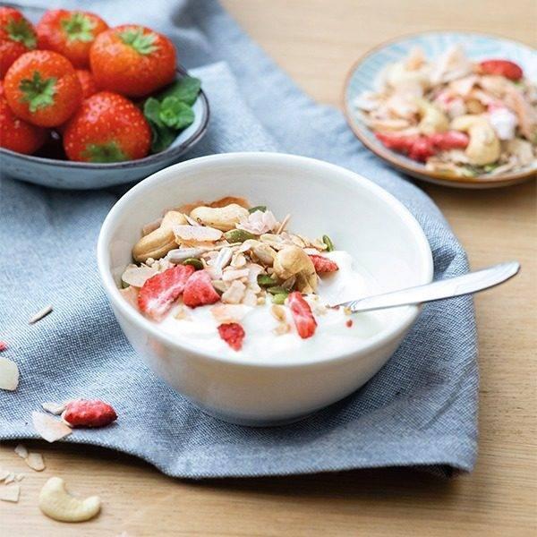 Granola cashew aardbei
